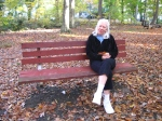 Mom tries out my favorite bench