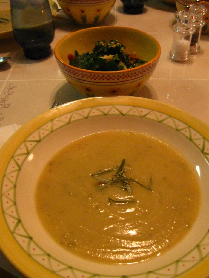 Turnip and potato soup