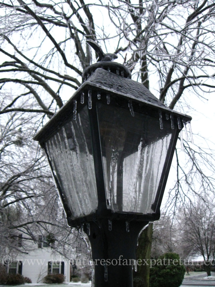 On a morning like this, I could just about believe this was a Narnian lamppost