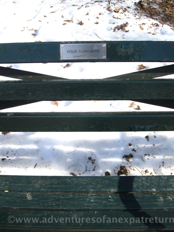 Not your usual sentimental park-bench dedication