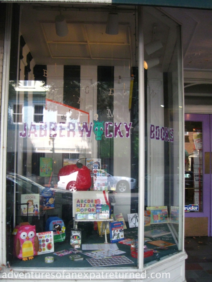 What a fantastic name for a kids' bookshop. The stuff they have in the window is enough to make any small child with a big imagination  (wait... that's all small children, isn't it?) write a very long wish list.