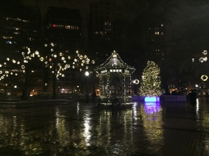 Philadelphia's lovely Rittenhouse Square during the holidays
